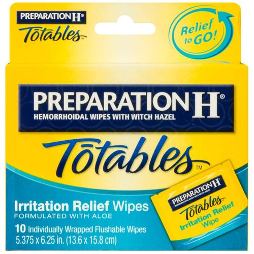 Totables Irritation Relief Medicated Wipes