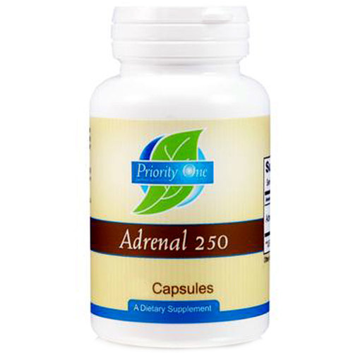 Priority One Adrenal 250 mg - 90 Capsules