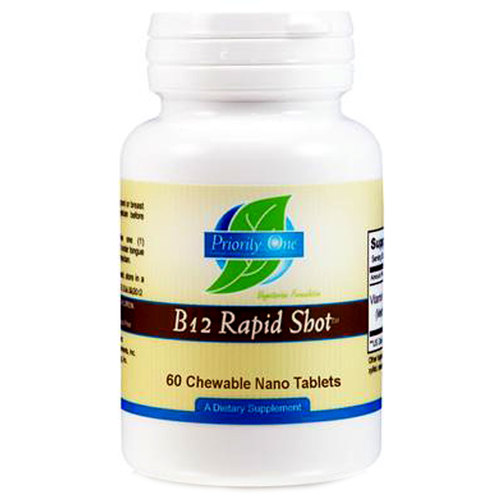 Priority One B12 Rapid Shot - 60 Nano Tablets