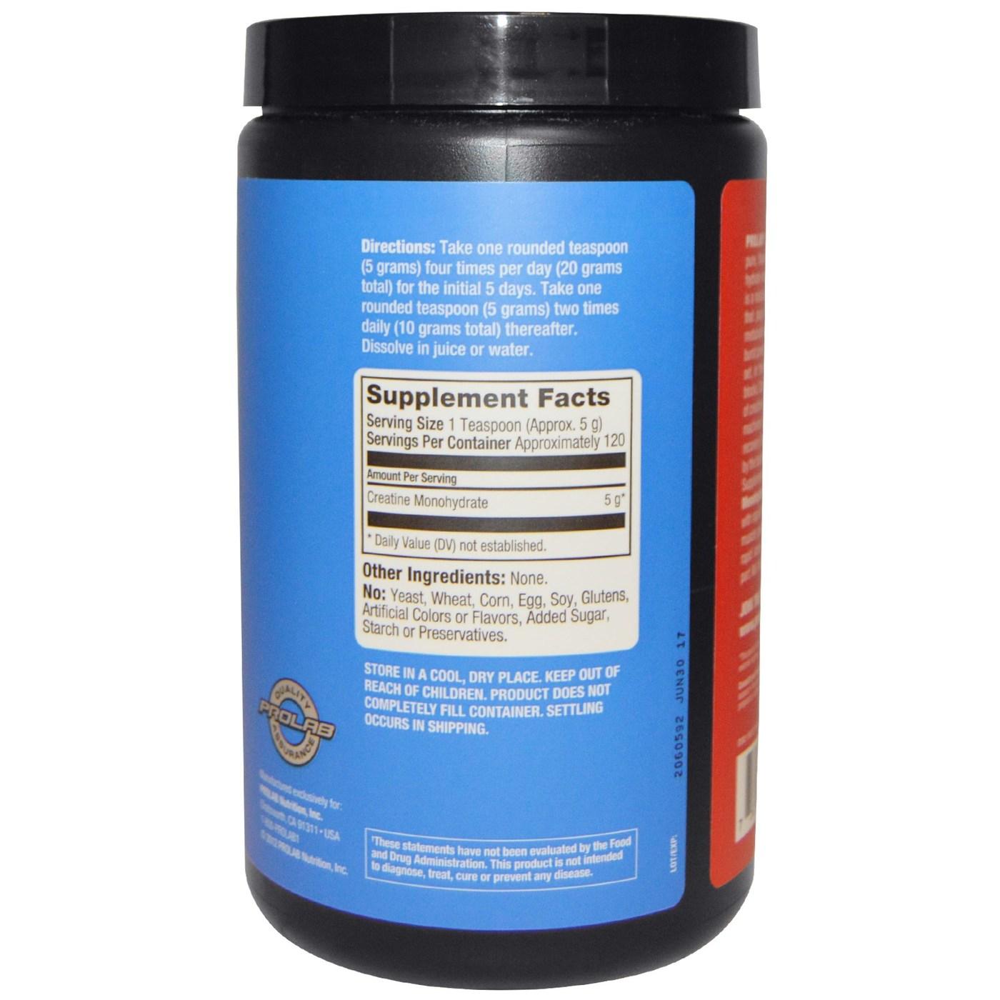 Prolab Nutrition Creatine Monohydrate Powder 300 Grams Evitamins Com
