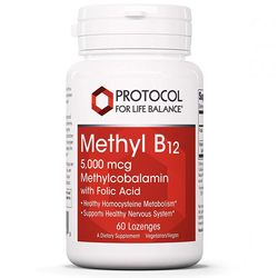 Protocol for Life Balance Methyl B12 5-000 mcg with Folic Acid