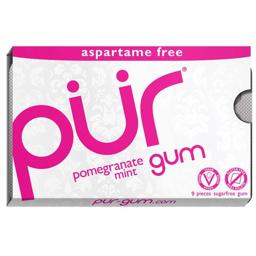 Pur Gum Pomegranate Mint - 9 unidades