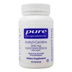 Pure Encapsulations Acetyl-L-Carnitine 500 mg
