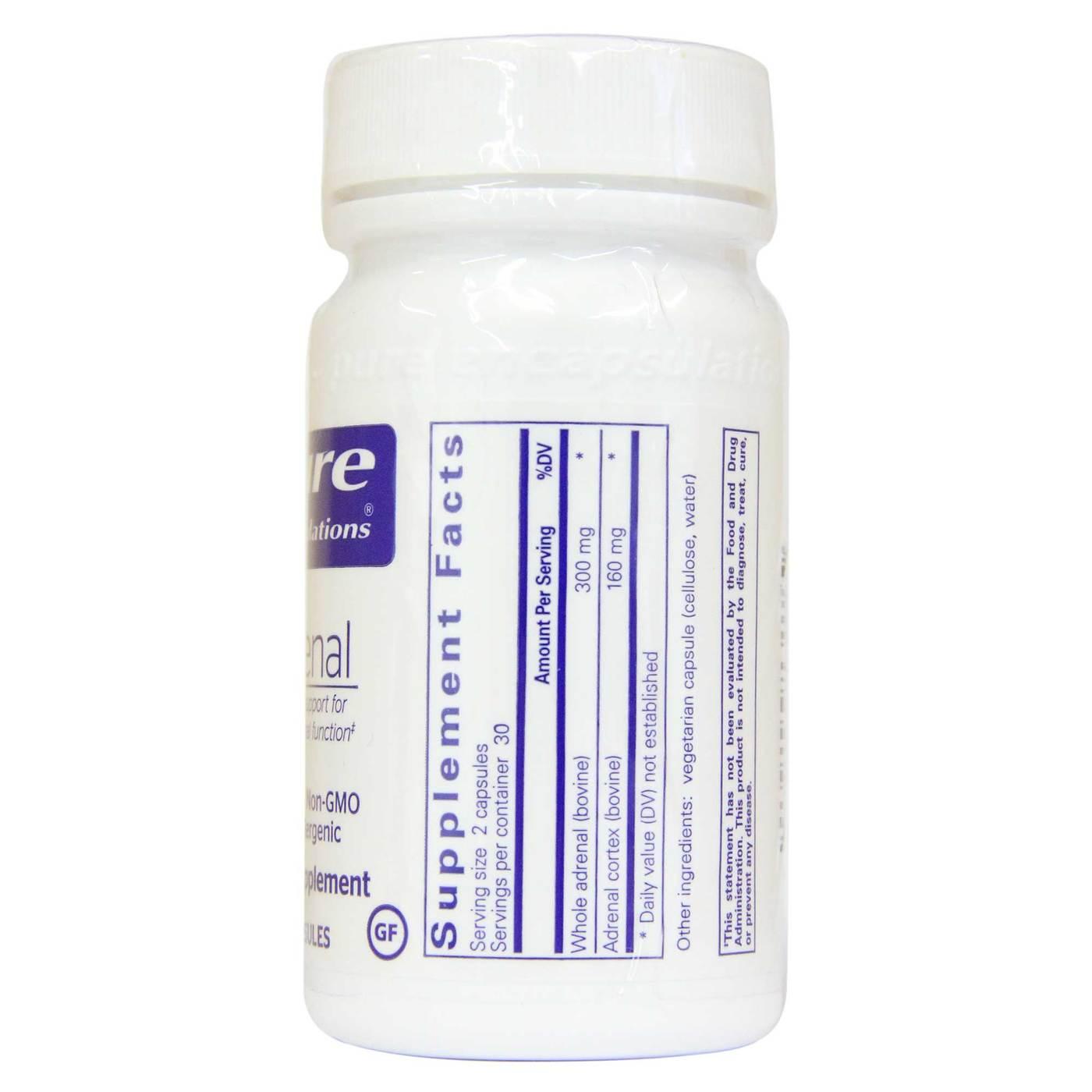 「pure Adrenal - 60 Capsules」的圖片搜尋結果