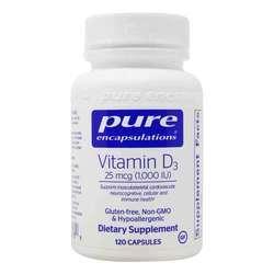Pure Encapsulations Vitamin D3 1000 IU
