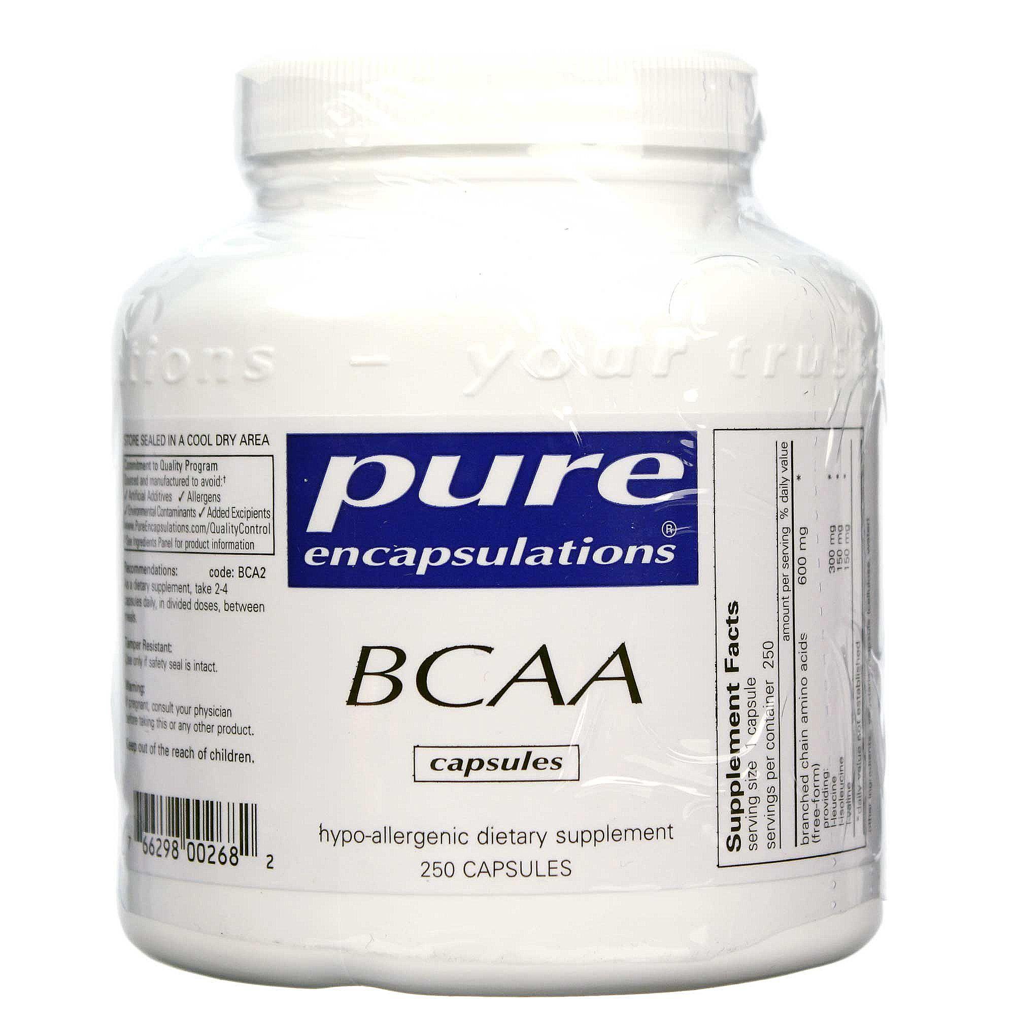 Pure Encapsulations BCAA - 250 Capsules