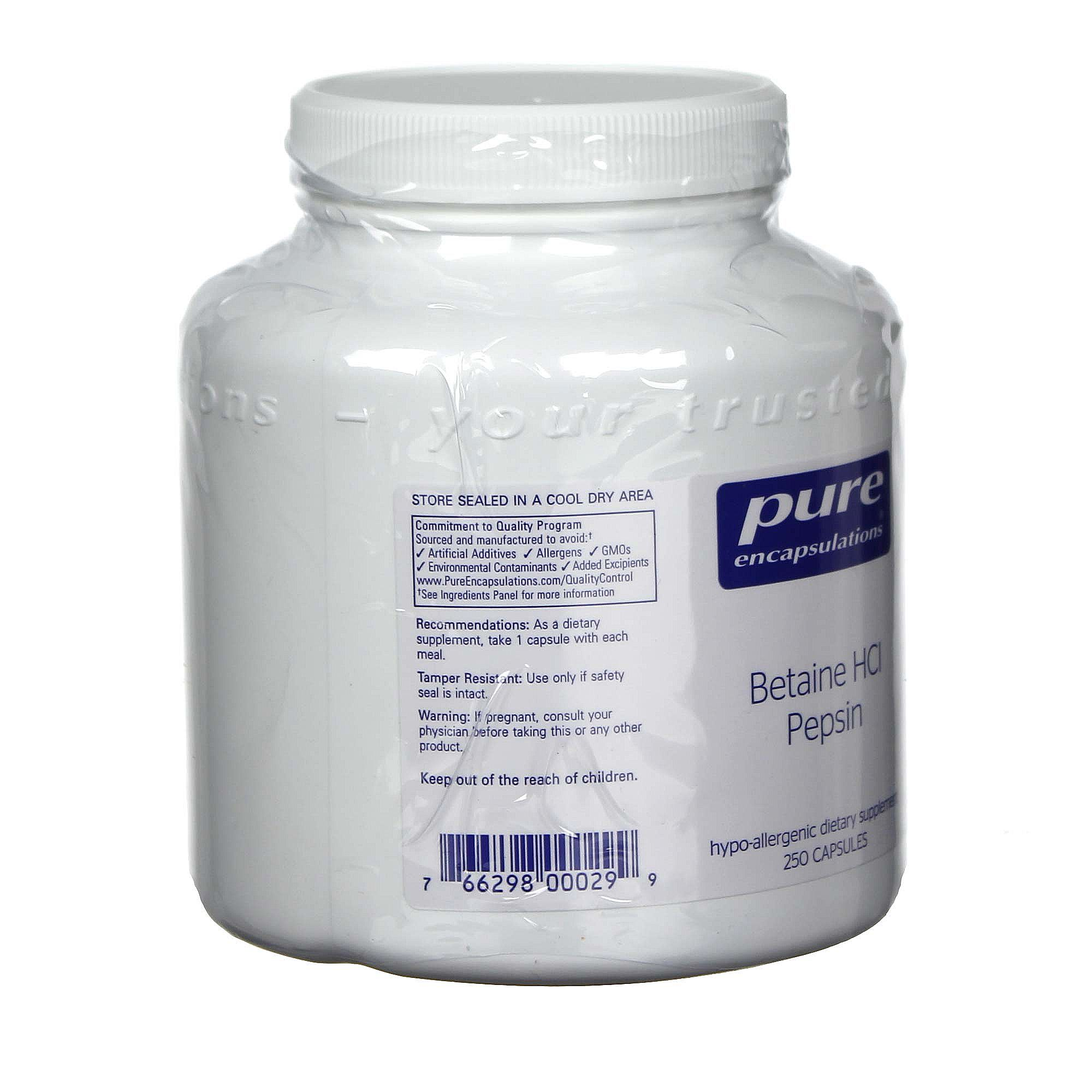 Pure encapsulations betaine hcl