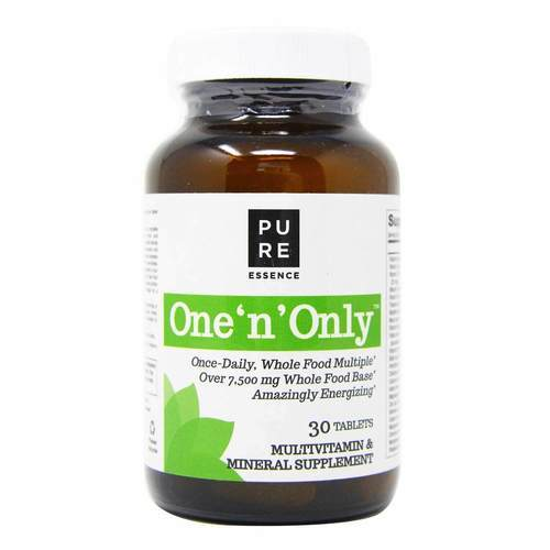 Pure Essence Labs, One 'n' Only™ - Multivitaminas de uso diário -  30 Tabletes - 8686_front2019.jpg