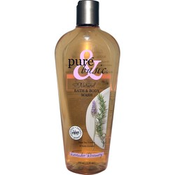 Pure and Basic Bath  Body Wash - Lavender Rosemary