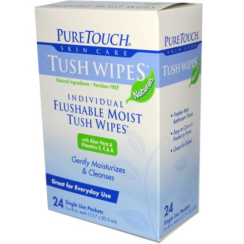 Flushable Moist Tush Wipes