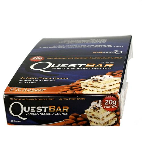 Quest Nutrition Quest Bar Vanilla Almond Crunch - 12 Bars - 793573901507_1.jpg