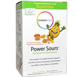 Rainbow Light Gummy Power Sours Multivitamin