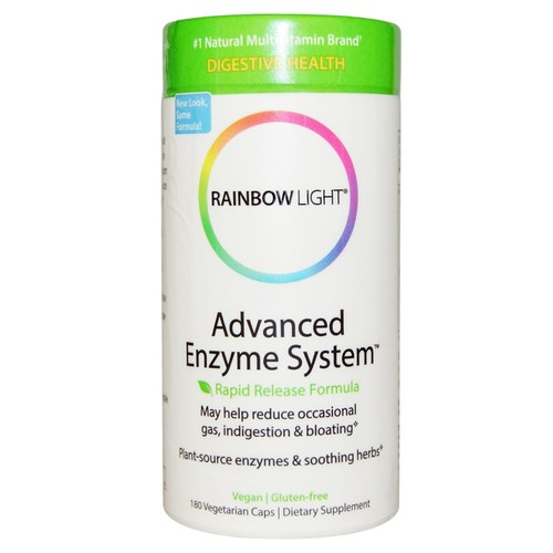 Rainbow Light Advanced Enzyme System  - 180 Tablets - 1789_01.jpg
