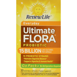 Renew Life Ultimate Flora Daily Probiotic Go Pack 15 Billion