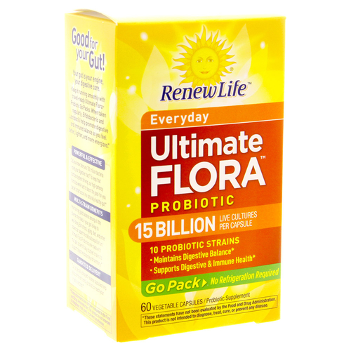 Ultimate Flora Daily Probiotic Go Pack 15 Billion