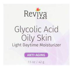 Reviva Labs Glycolic Acid Oily Skin Light Daytime Moisturizer