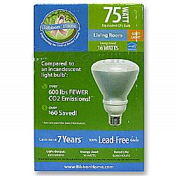 Ribbon Home Living Room Soft Light Bulb 75-Watt Equivalent