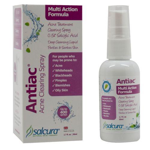 Salcura Naturals Antiac Acne Clearing Spray 1 7 Fl Oz