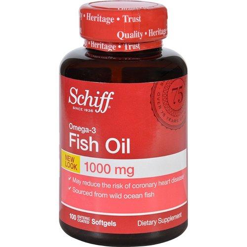 Schiff Omega 3 Fish Oil 1000 Mg 100 Softgels