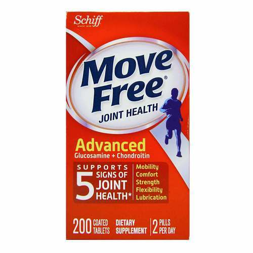 Schiff Move Free Joint Health Advanced Glucosamine and Chondroitin  - 200 Coated Tablets - 356228_front2020.jpg