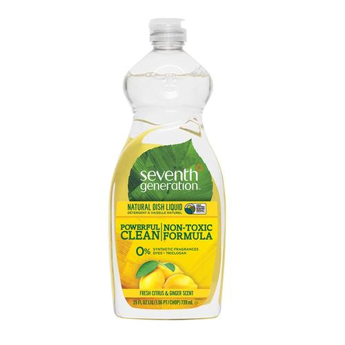 Seventh Generation Natural Dish Liquid Fresh Citrus and Ginger - 25 oz
