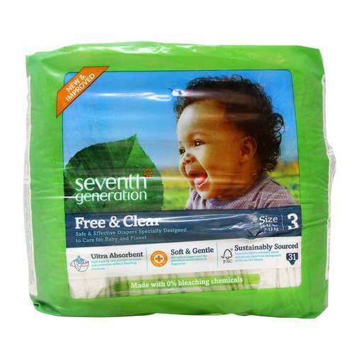 Seventh Generation Free and Clear Diapers Stage 3 (16-28 lbs) - 31 Diapers - 62836_front2020.jpg