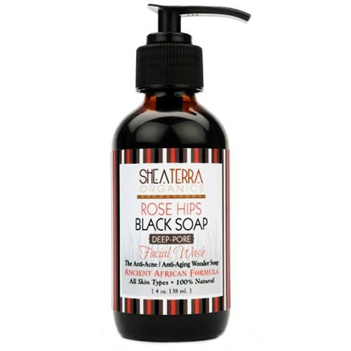 Rose Hips and Black Soap Deep Pore Facial Wash