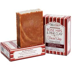 Shea Terra Organics Rose Hips and Pink Clay Facial Cleansing Bar