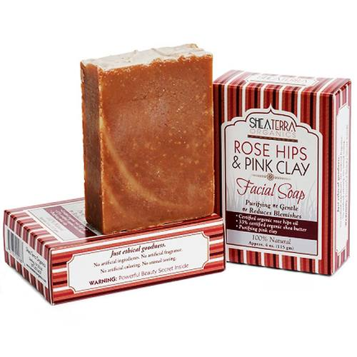 Rose Hips and Pink Clay Facial Cleansing Bar