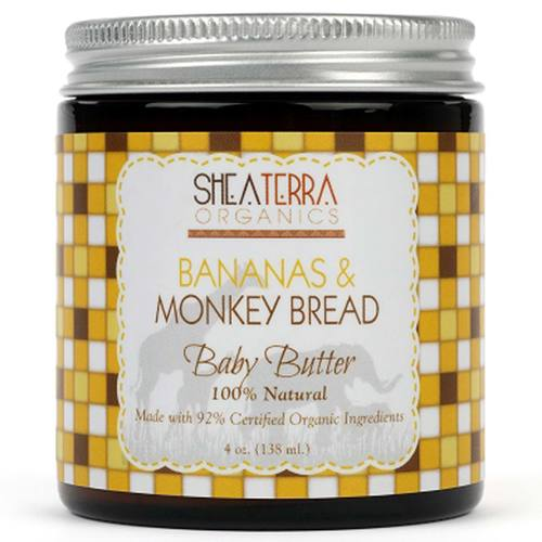 Shea Terra Organics Banana and Monkey Bread Baby Butter - 4 oz