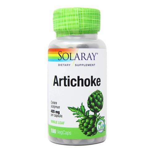 Solaray Artichoke 405 mg Whole Leaf  - 100 VegCaps - 12237_front2020.jpg
