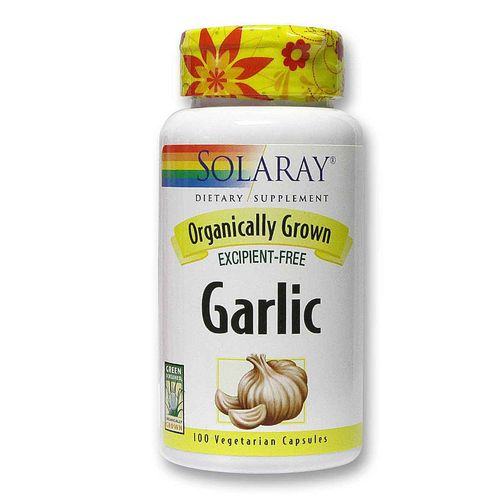Solaray Garlic Orgánico - 600 mg - 100 Vegetarian Capsules - 20120529_100.jpg