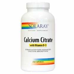 Solaray Calcium Citrate with Vitamin D-3