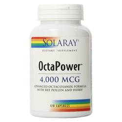 Solaray OctaPower Advanced Octacosanol Formula with Bee Pollen and Herbs