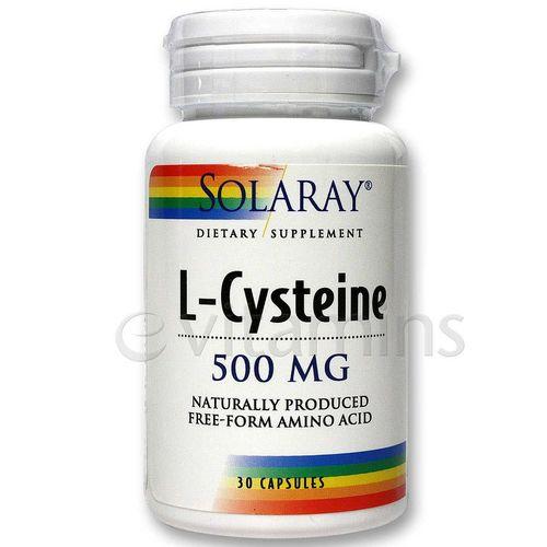 Solaray L-Cysteine Free Form - 30 Caps - eVitamins.com