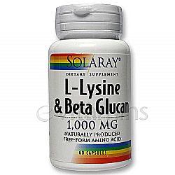 Solaray L-Lysine wBeta Glucan