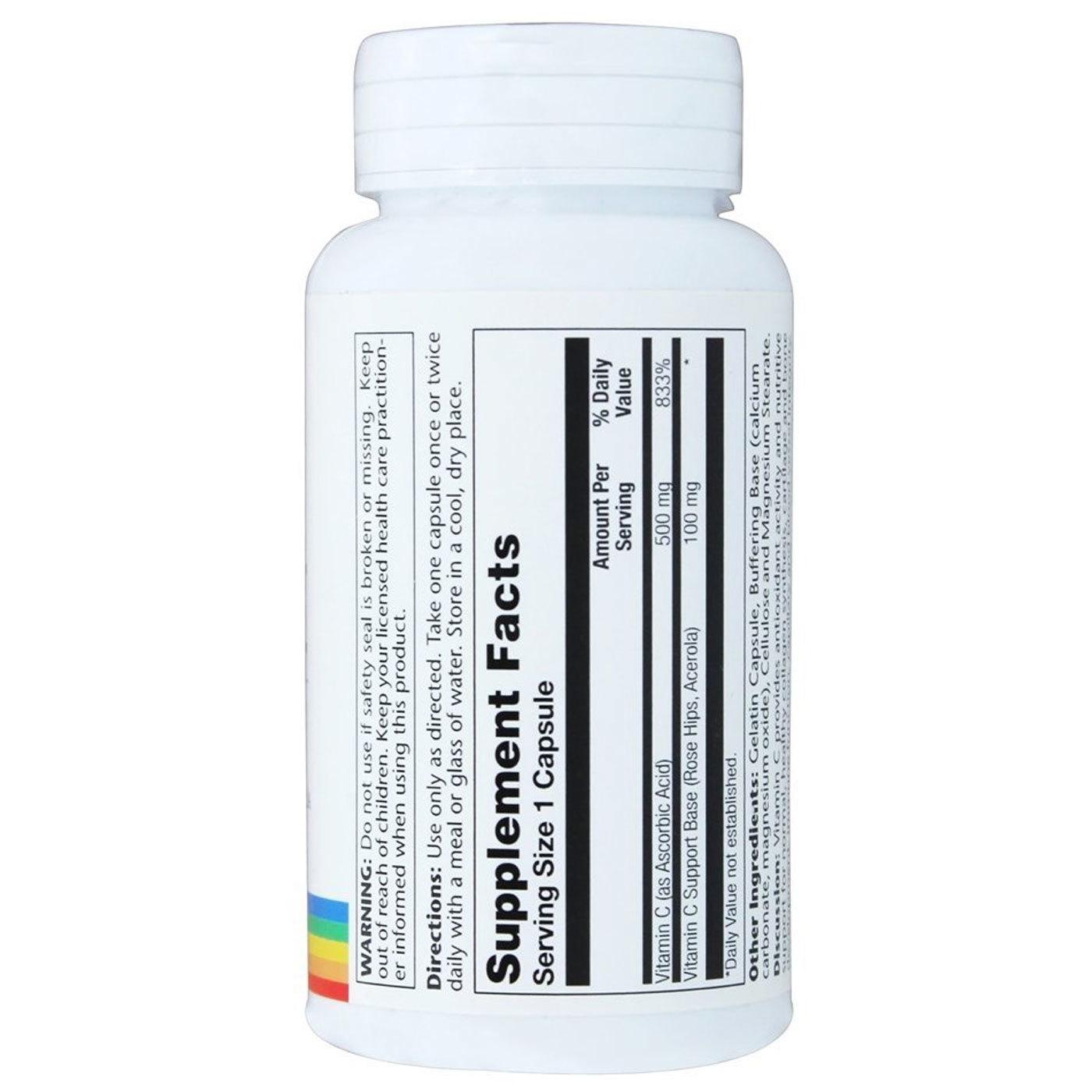 Solaray Vitamin C - 500 mg - 100 Capsules