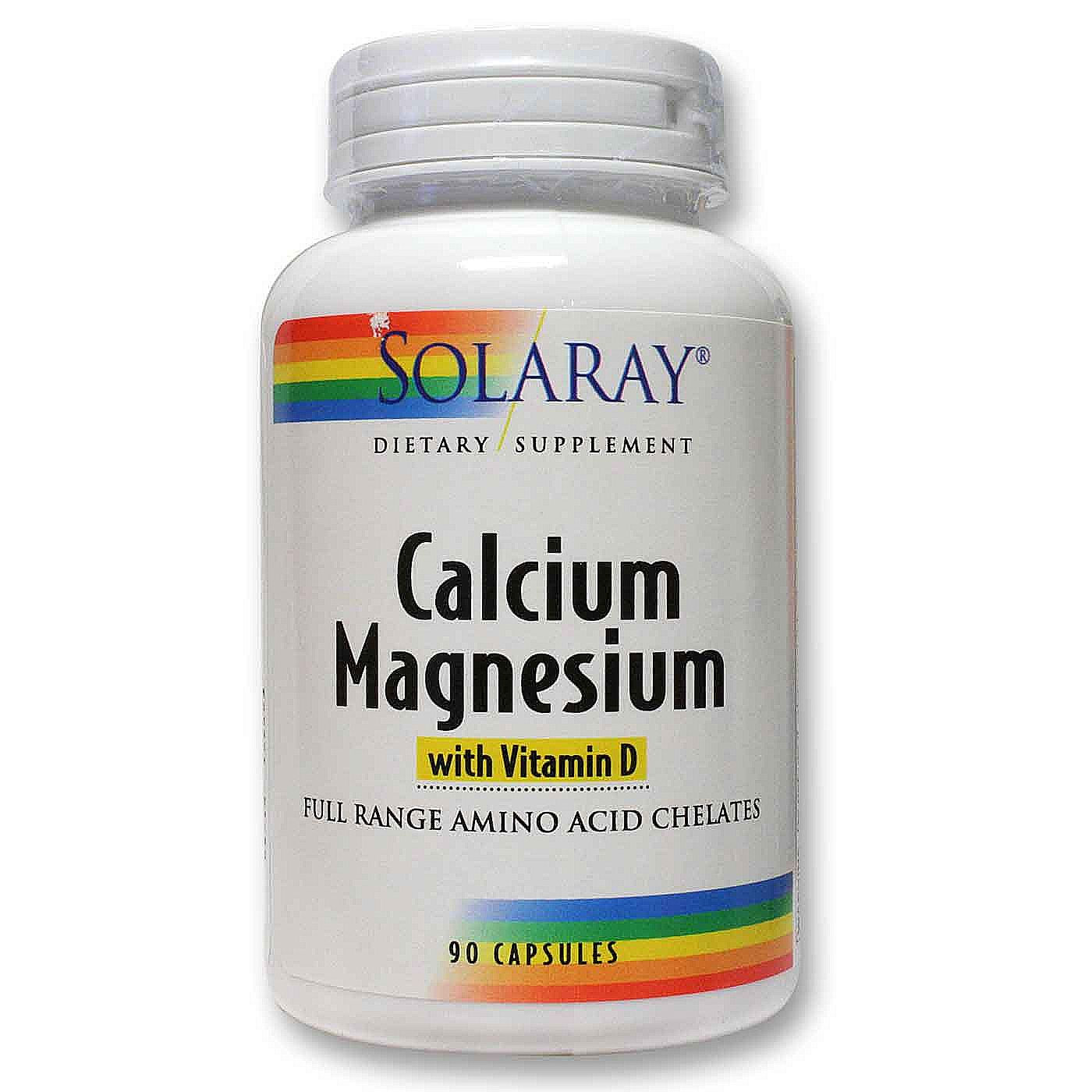 solaray calcium magnesium with vitamin d 90 capsules. Black Bedroom Furniture Sets. Home Design Ideas