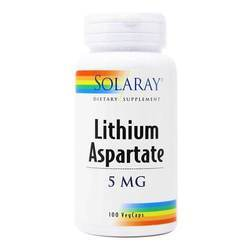Solaray Lithium Aspartate 5 mg