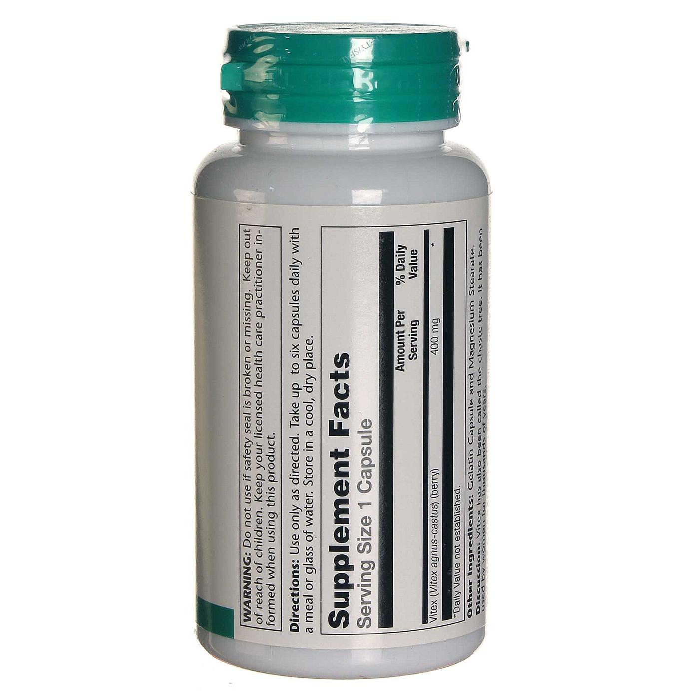 Solaray Vitex - 400 mg - 100 Capsule