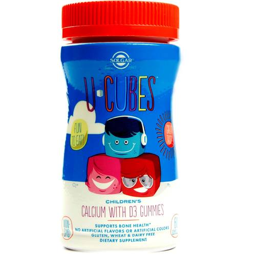 U-Cubes Children's Calcium with D3 Gummies