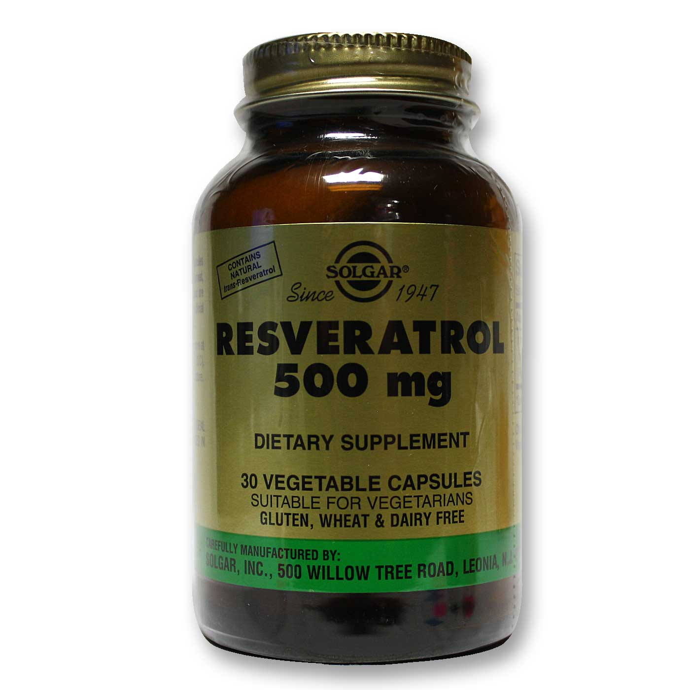Solgar Resveratrol 500 30 Vcapsules Evitamins South Korea