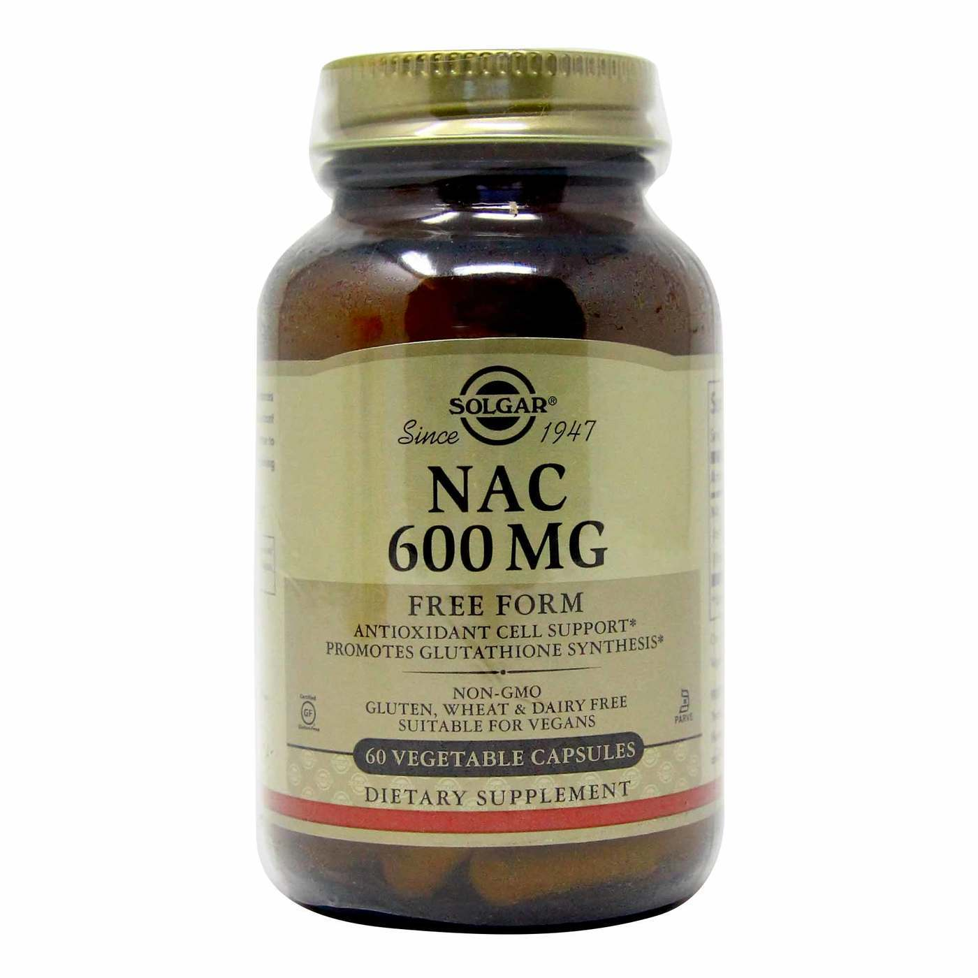 Solgar Nac 600 Mg 60 Vcapsules Evitamins Com