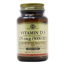 Solgar Vitamin D3  5000 IU (125 mcg)