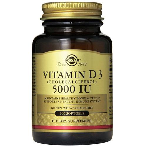 Solgar Vitamin D3  5000 IU  - 100 Softgels - 17097_01.jpg
