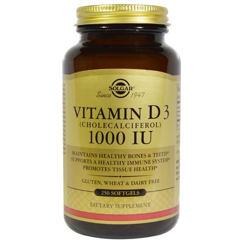 Solgar Vitamin D3 1000 IU - 250 Softgels - 5753_01.jpg