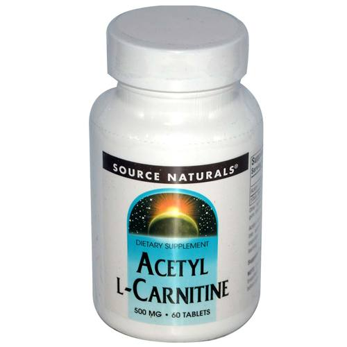 Source Naturals Acetyl L-Carnitine  - 500 mg - 60 Tablets - 021078004998_1.jpg