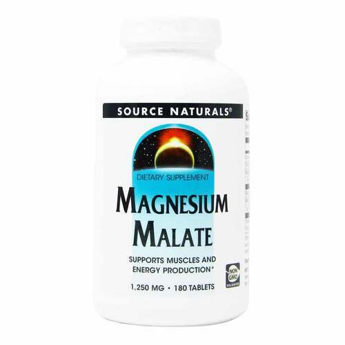 Source Naturals Magnesium Malate - 1,250 mg - 180 Tablets - 11132_front.jpg