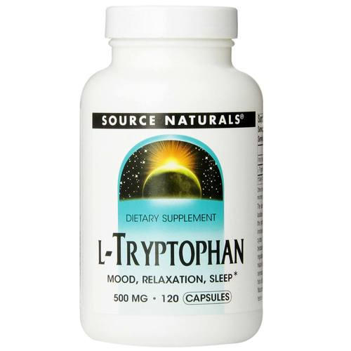 Source Naturals L-Tryptophan 500 mg  - 120 Capsules - 13179_01.jpg