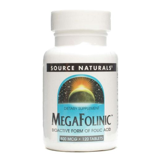 Source Naturals MegaFolinic 800 mcg  - 120 Tablets